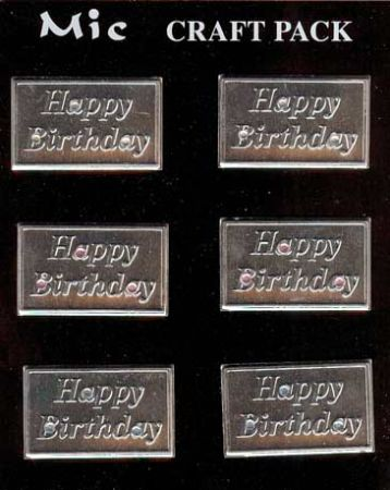 Metal Happy Birthday Wording Topper